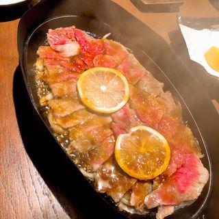 壱岐牛のレモンステーキ