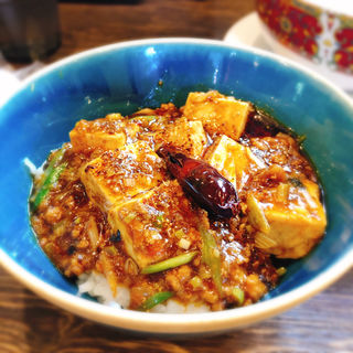 汁あり担々麺と小麻婆豆腐かけご飯(雲林坊 秋葉原店 (ユンリンボウ))