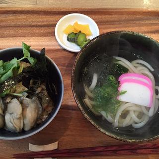 牡蠣めしうどん定食