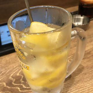 かちかちレモンハイボール(餃子酒場 神田今川橋いち五郎)