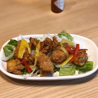 鶏唐揚アヒージョソース