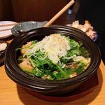 生姜つくねとセリの小鍋