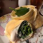 生ベーコンとルッコラ、サラダほうれん草のクレープ(コノ花まひろ )