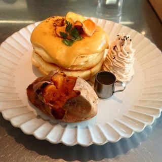 種子島熊野農園焼き芋パンケーキ「こがね」(レインボーパンケーキ (RAINBOW PANCAKE))