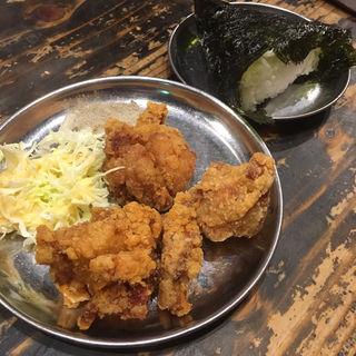 唐揚げセット(廣島つけ麺本舗ばくだん屋 名古屋店)