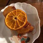 紅玉のラム酒ケーキと自家製ドライぽんかん(コノ花まひろ )