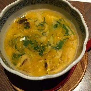 松茸と鱧の茶碗蒸し(ぽんしゅや三徳六味)