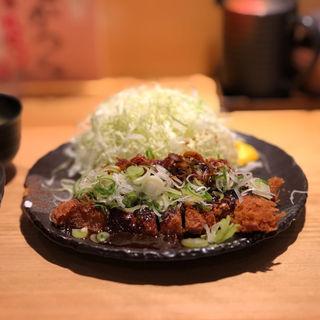 ねぎ盛り味噌かつ定食(豚屋とん一  姫路駅前)