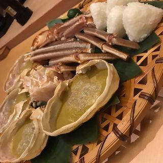 焼き蟹と焼きおにぎり(高台寺 十牛庵)