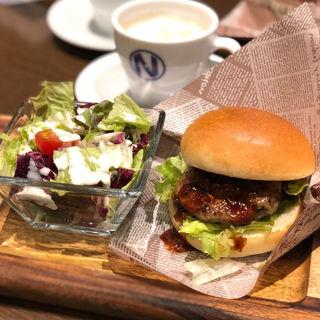 NICK BURGER SET(モーニング)(肉が旨いカフェ NICK STOCK 本町通店)