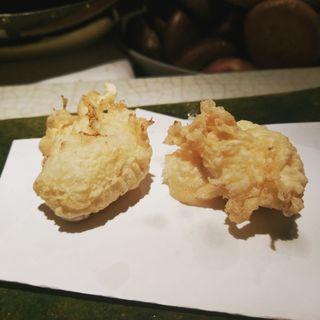 河豚の白子の天ぷら(天婦羅なかがわ)