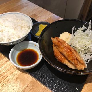 鶏皮餃子セット(ランチ)(らーめん みふく )