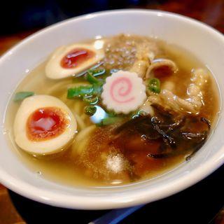 鮭節あんかけらーめん+味玉(麺処 ほんだ)
