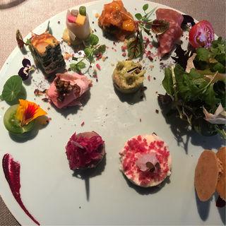 10種類の前菜  ランチコース(レストラン ルアイ)