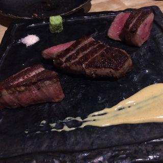 和牛のステーキ&シャトーブリアン(コース料理 未知)(粉者 )