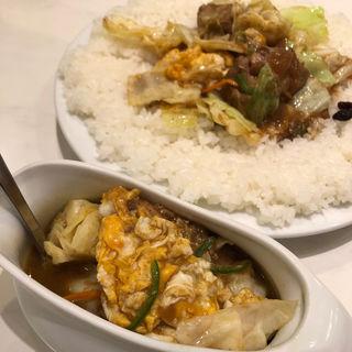 ポーク野菜エッグカレー(インド式 チャオカリー 汐留店 (炒伽哩))