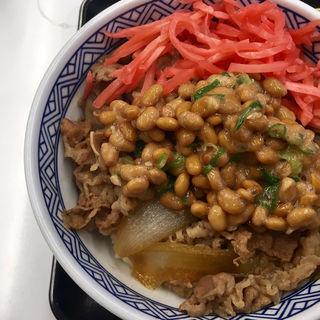 牛丼並+納豆(吉野家 札幌狸小路店)