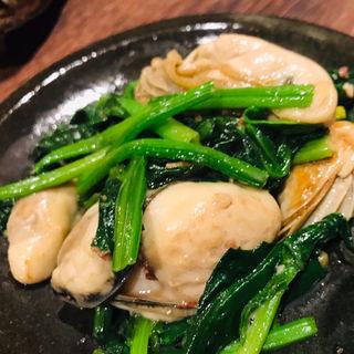 仙鳳趾牡蠣のほうれん草バターソテー(魚と野菜 つじ田 )