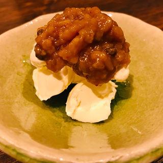 リームチーズの味噌漬け (魚料理と野菜つじ田)
