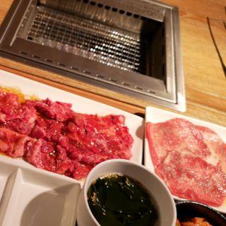 カルビハラミ定食(焼肉ライク)