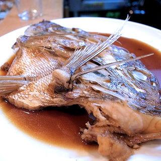 天然真鯛のかぶと煮(割烹 船生 )