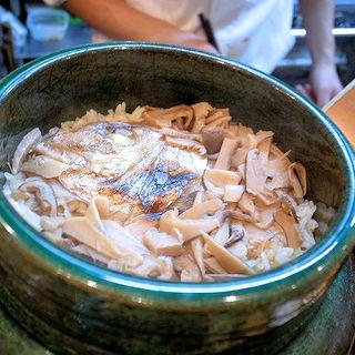 松茸と天然真鯛の炊き込みご飯(割烹 船生 )