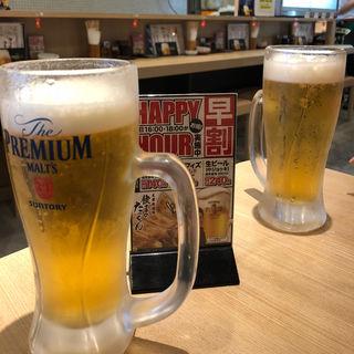 生ビール(中ジョッキ)(餃子のたっちゃん 天神西通り店)