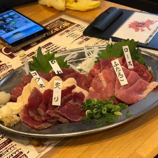 ロース、ふたえご、ひれ、炙り、コウネ(馬力キング 赤坂店 (バリキング))