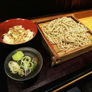 小あじ御飯セット(蕎麦 冷麦 嵯峨谷 渋谷店 )