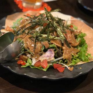 地鶏の和風サラダ(旬味旬菜 大和)