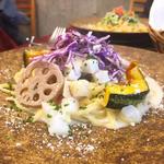ベーコンと根菜ときのこのクリームスパゲティ(レストラン タガミ (Restaurant Tagami))