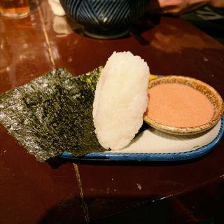 砦おむすび、明太マヨソース付き(麺の坊 砦)