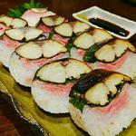 鯖スモークの棒寿司