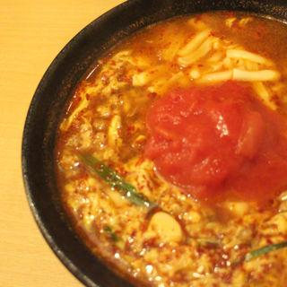 トマト辛麺3倍(辛麺 一門)