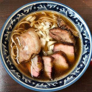 煮干し中華そば 肉増し(晴耕雨読)