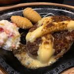 チーズバーグステーキセット(びっくりドンキー 宇治槙島店 )
