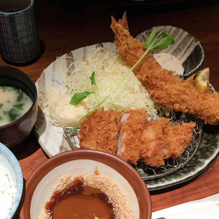 大海老カツとヒレカツ膳セット(名代とんかつ かつくら ミント神戸店 (なだいとんかつ かつくら))