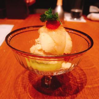 季節のフルーツとジェラート(ふくい 望洋楼 青山店 )