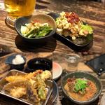 各種天ぷら(紅生姜、半熟玉子、とり天など)