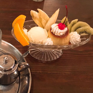 プリンアラモード(喫茶ガボール (喫茶 le GABOR))