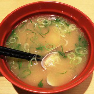 あさりの味噌汁(スシロー 新川崎スクエア店)
