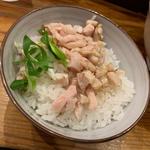 〆の刻み鶏炙りご飯