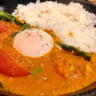 小松菜と半熟卵の南インド風カレー(キャンプエクスプレス 品川店 (camp express))