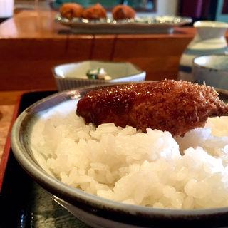 ひれかつ定食(串揚げ ふくみみ)
