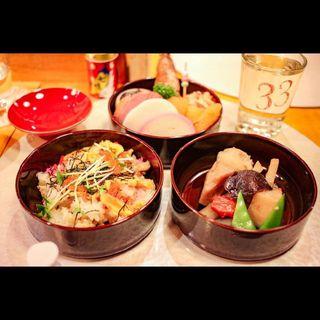 酒肴三段重 御節(日本酒バル 福33 (フクミミ))