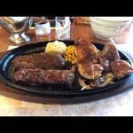 極み炭焼きブロンコハンバーグ&ミックスグリルセット