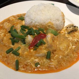 シーフードのイエローカレーライス(バンコクキッチン 銀座コリドー街店 (Bangkok Kitchen))