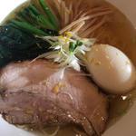 魚出汁 塩 細麺(中華そば トランポリン)