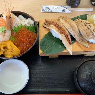 北海海鮮丼+穴子三種(北辰鮨 三井アウトレットパーク仙台港店 )