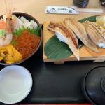 北海海鮮丼+穴子三種